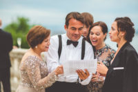 Mc is explaining the guests the agenda of the wedding up on the Savoy Terrace, Buda Castle. Guests are having a fantastic time. We truly suggest to have a professional MC on the ceremony who can take care of the details and the arrangements