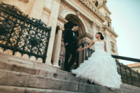 Early morning photoshoot with Chinese couple in front of the Basilica. More and more couples choose Budapest as their wedding destination due to the beauty of the city