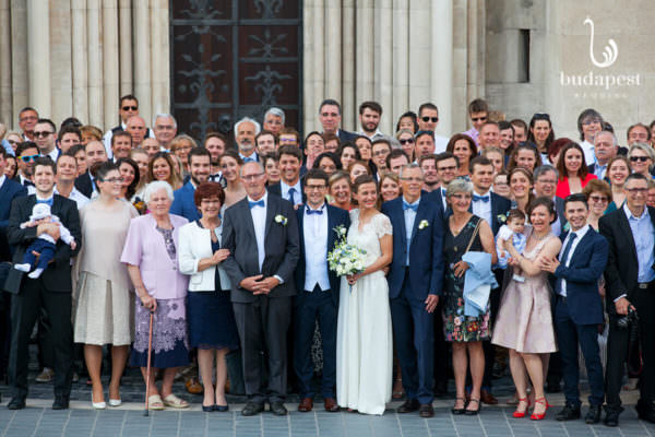 After the wedding ceremony group pictures with all the guests are mandatory