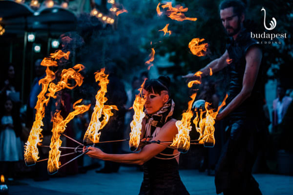 As a part of the entertainment fire performances can be a good element. Fire show of the marriage