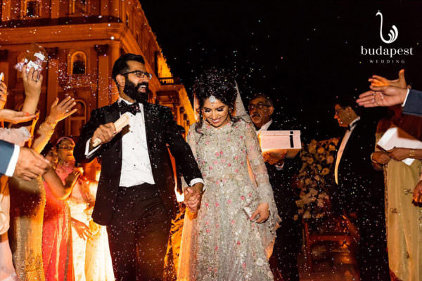 After the walima ends the Pakistani couple leaving the Buda Castle, Savoy Terrace