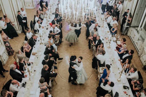 When it comes to a destination wedding the couple like to incorporate their customs with some Hungarian elements. Hungarian dancers entertaining the American - French wedding party