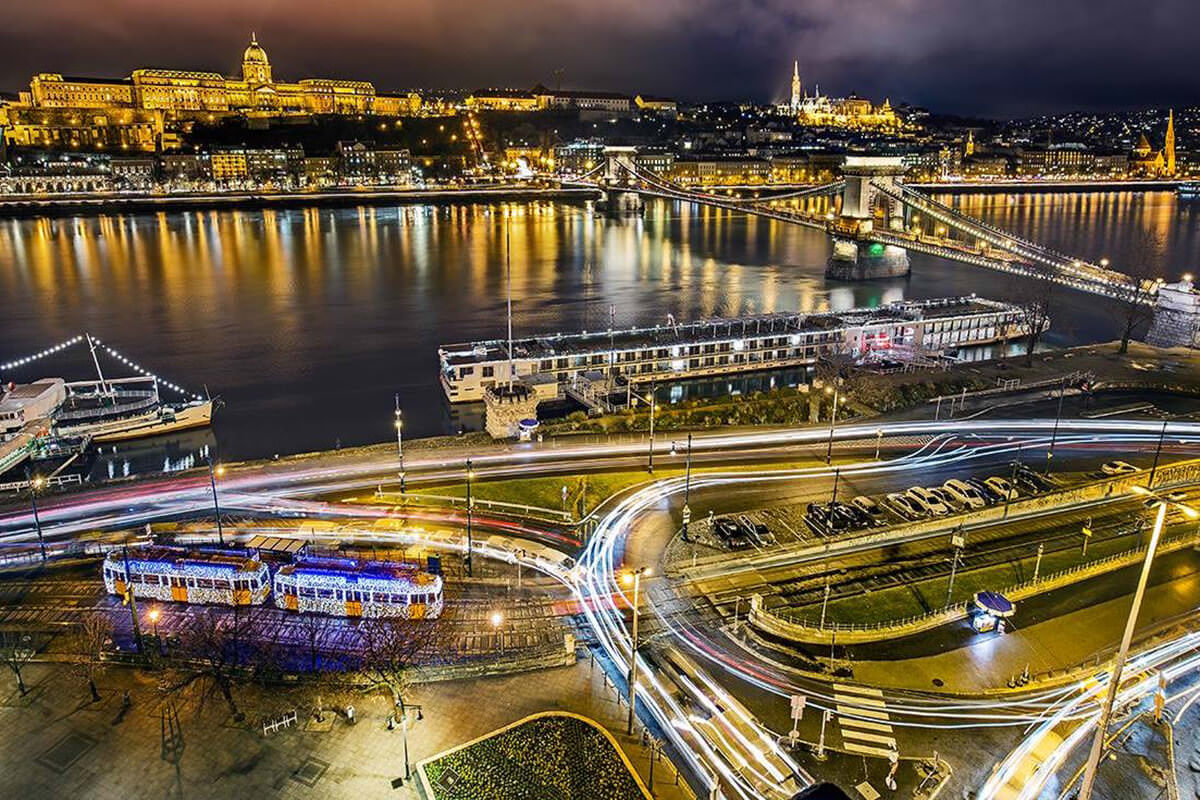 View of city of Budapest
